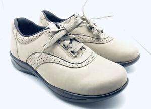 SAS Walk Easy Women's Walking Shoes Tan Suede 9.5 Wide New