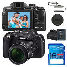 Nikon Coolpix P610 Digital Camera - Black 26488 16MP 60X ZOOM + 16GB GB SD CARD