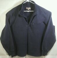 Duluth Trading Co Mens Size L 1/4 Zip Pullover Sweatshirt Navy Blue