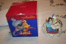 Schmid Disney Aladdin And Jasmine On Carpet Music Box