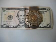 Solid Brass CSA Seal Confederate States of America Money clip