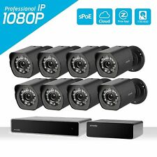 Zmodo Full 1080p HDMI 8CH NVR Outdoor Security Camera PoE Repeater System 1TB HD