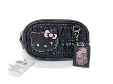 2011 NWT Rare Sanrio Hello Kitty Black Cosmetic Purse Case Pencil Pouch Bag SM