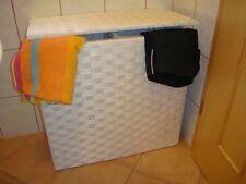 """Wäschekorb aus Nylon Farbe """"weiß"""" mit Futter Wäschesortierer"""