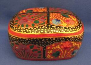 Hand Painted Wood Tea Box - India