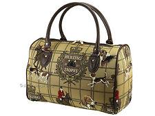 Signare Ladies Tapestry Travel Holdall Weekend Handbag / Bag In Hunting Design