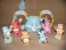 ** VINTAGE Care Bear Lot * 1980's * Figurines * PVC * Mug * Rattles **