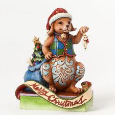Jim Shore Heartwood Creek 2014 Christmas Dog w/Cat Nib #4041095