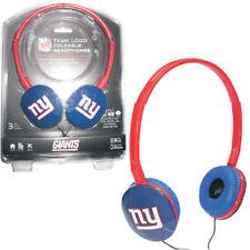 Licensed - iHip NFL Team Logo DJ Style Foldable Headphones - New York Giants