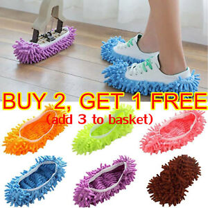 Microfibre Lazy Slipper Mop Floor Dust Quick Polishing Cleaning Socks Mop