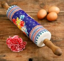 The Pioneer Woman Fiona Floral Ceramic Rolling Pin-NEW
