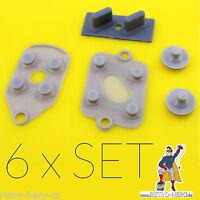 6 x Super Nintendo SNES Conductive Rubber Silicon Gummi Pads Controller Repair