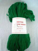 Knitting Worsted Weight Yarn 100% Virgin Wool XMAS GREEN 4 Ply Moth Proof 4 oz