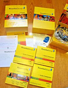 Rosetta Stone Software 1-3 Spanish Espanol Latin America PC Mac v3 + Headset CDs