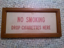 """VTG """"NO SMOKING"""" Sign - Industrial Retail Club Office - """"Drop Cigarettes Here"""""""