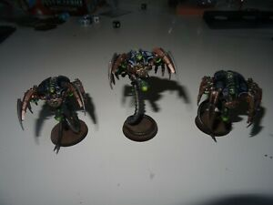 Warhammer 40k necron 3 canoptek wraith peintes