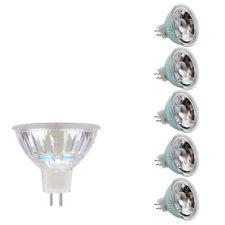 6PACK LED 5W Glass Spot Light MR16 COB AC/DC 12V 3000K Warm White Lamp 36º Home