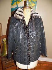 vintage animal snake print spotted leather rex rabbit chinchilla fur coat jacket
