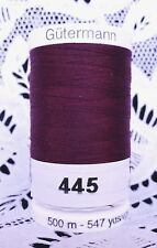 1 NEW burgundy #450 GUTERMANN miniking 100/% polyester thread 1094 yds Spool