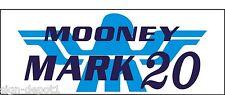 A090 Mooney Mark 20 Airplane banner hangar garage decor Aircraft signs