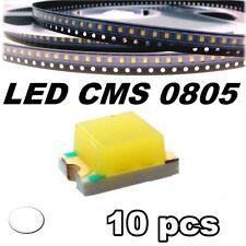 145/10# LED blanc CMS 0805 10 pcs -- SMD white -- LED blanche
