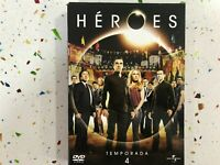 HEROES TEMPORADA 4 ULTIMA 4 x DVD SERIE TV ESPAÑOL E INGLES   AM
