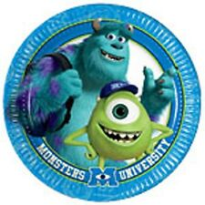 MONSTERS INC UNIVERSITY CHILDRENS BIRTHDAY PARTY PACK OF 8 DISPOSABLE PLATES