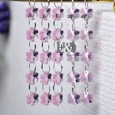 5 Pink Crystal Chandelier Prism Lamp Snowflake Bead Chain Wedding Pendant H40