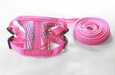 Pink Leashes lead pet soft harness small pet guinea rat Hamster Ferret leveret
