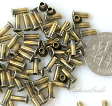 Eyelets, 6.8 mm, Leather Craft Findings, TierraCast, Antique Brass, 50 Pcs, 8427