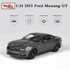2015 Ford Mustang GT 5.0 Gray Car Model Diecast Mock Up Toy 1:24 Scale By Maisto