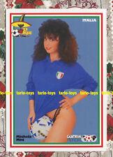 ITALIA Michela Miti - Guerin Mundial 1986 - postcard - cartolina calcio soccer