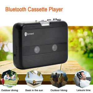 3.5mm Jack Portable Cassette Player FM Radio Black Auto-reverse with Earphones