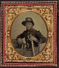 Photo Civil War Union Young Boy Dual Colt Model 1855 Root Sidehammer Pistols