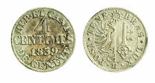 pcc1839_69) Swiss Cantons. City of Geneva. 4 Centimes 1839