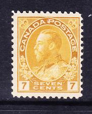 Canada 1916 Edoardo vi SG209 7 C GIALLO-OCRA-montato Nuovo di zecca. catalogo £ 26