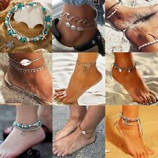 Fashion Women Anklet Shell Bead Boho Ankle Chains Bracelet Foot Beach Jewelry