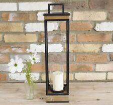 Tall Metal Framed Candle Lantern