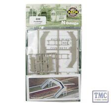 222 Ratio Concrete Footbridge N Gauge Plastic Kit