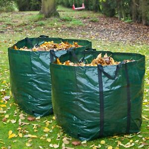 2x Heavy Duty Garden Waste Bag – Strong Reusable Refuse Sack Rubbish Bin – Green