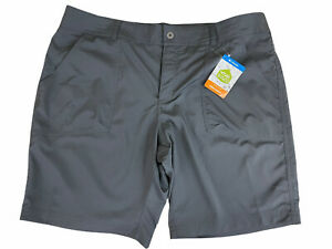 Columbia Women's Omni Shield Kestrel Trail Stretch Shorts size 18W NEW $50 Gray