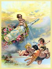 Vintage Soft Drink Ad Advertising Babies Children Poster Print on Canvas 24x32
