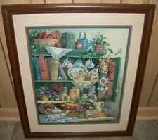 "Home Interiors Homco ""Farmers Market"" Barbara Mock Picture 26 1/2"" x 22 1/2"""