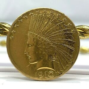 US INDIAN HEAD $10 GOLD COIN 1910