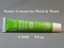 TESTORS CEMENT FOR WOOD AND METAL 5/8 ounce bonds quickly adhesive glue TES 3505