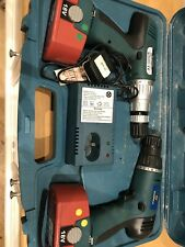 2 x Marksman 18V Cordless Drills No 67055C with charger/2 batteries and case vgc