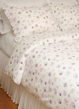 King Duvet Comforter Cover Set Elizabeth Lavender Purple Roses Cotton