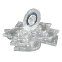 10Pcs Transparent Nail Art Striping Tape Line Case Sticker Roller Box Holder Hot
