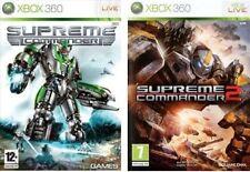 Lotto 2 Giochi XBOX-360 Supreme Commander+Supreme Commander 2