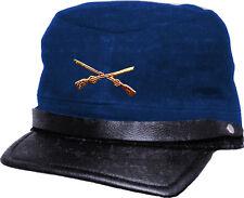 Country Western Biker Leder CAP SÜDSTAATEN - CSA Gerneral Lee - blau